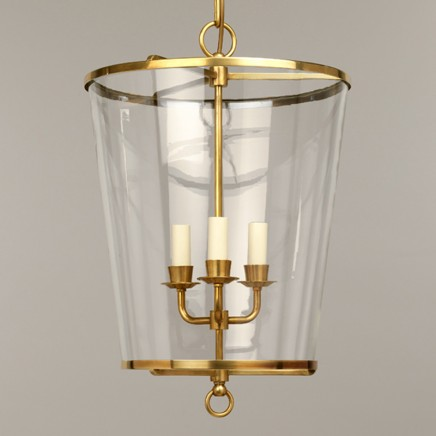 Zurich Lantern, no shade, Brass