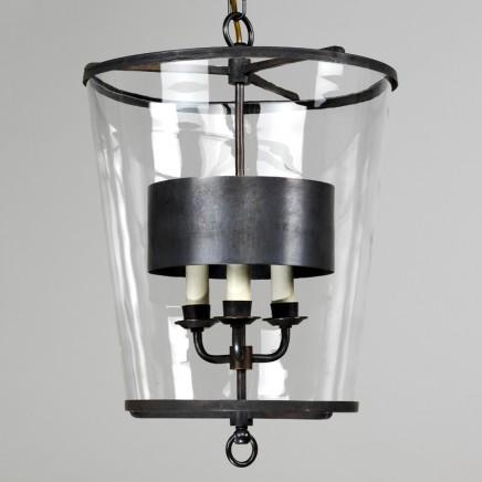 Zurich Lantern with metal shade, Bronze