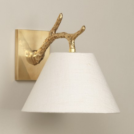 """Brass.  Shown with 9"""" Empire Cream Silk Lampshade.  Lampshade  sold separately."""