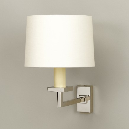 """Nickel.  Photographed with 6"""" Warwick Drum lampshade in Lily Linen. Lampshade  sold separately."""
