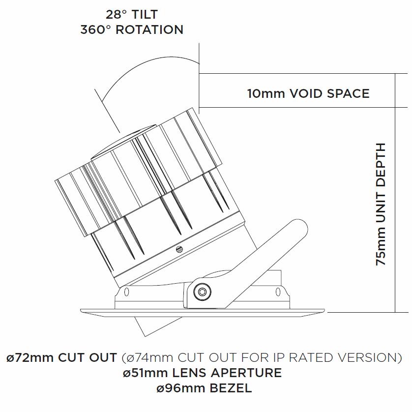 Dino Tilt Rotate Led Downlight