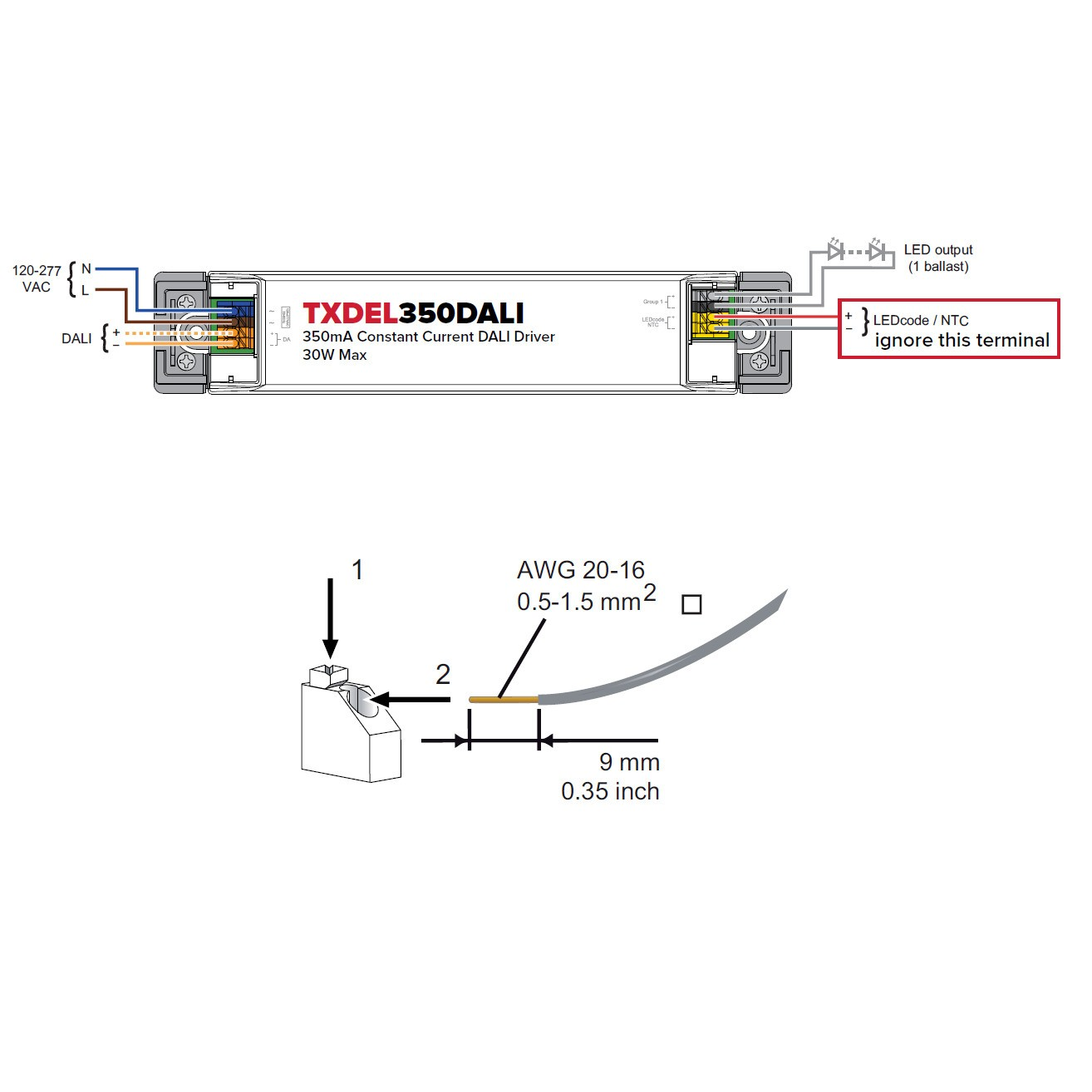 TXDEL 500DALI Constant Current Driver (Single) - Lighting ... on