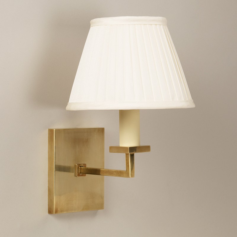 Norfolk wall light products norfolk wall light brass photographed with 7 empire knife pleat cream silk lampshade lampshade sold separately aloadofball Image collections