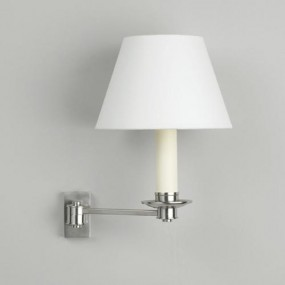Empire 7 inch Lampshade on Library Swing Arm Wall Light (sold separately)