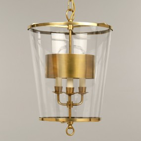 Zurich Lantern with metal shade, Brass