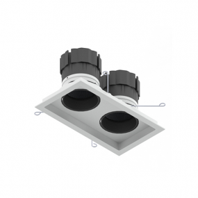 Look Tilt & Rotate Twin LED square downlight