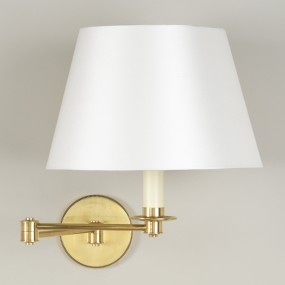 "Brass.  Shown with 12"" Pembroke Cream Silk Lampshade.   Lampshade  sold separately."