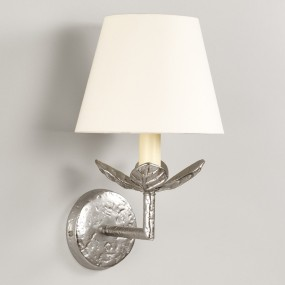 """Nickel.  Shown with 8"""" Pembroke Lily Linen Lampshade.   Lampshade  sold separately."""