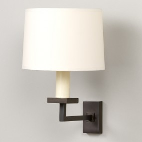6 inch Warwick Drum Lampshade on a Fixed Library Wall Light (sold separately)