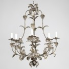 Compiegne Chandelier Small, Distressed Silver