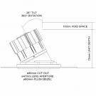 True Tilt & Rotate LED downlight