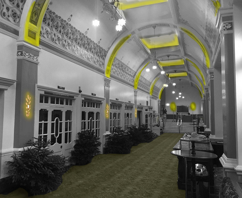 Glow Diagram - early concept for Ambulatory in The Royal Hall, Harrogate