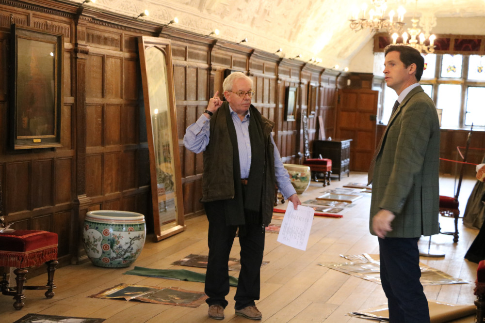 David Starkey & Duncan Leslie in the Long Gallery at Hever