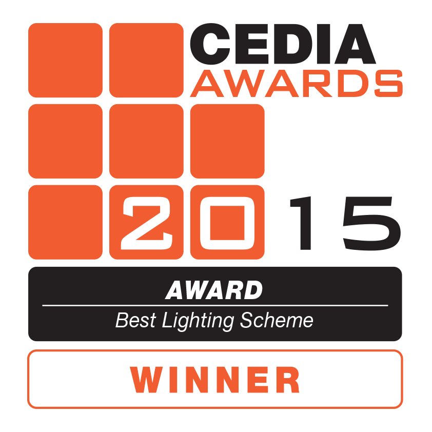 Winner CEDIA Awards 2015 - Best Lighting Scheme