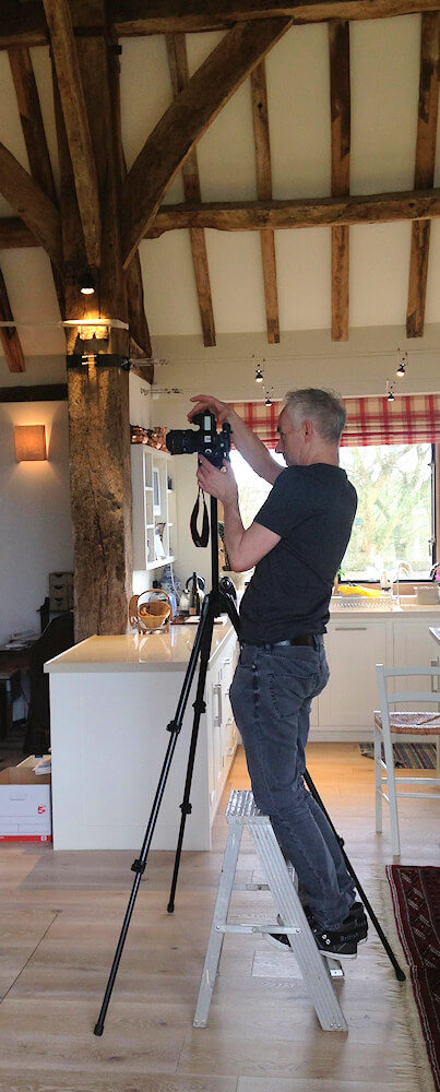 Simon Warren photographing our Hampshire Barn project