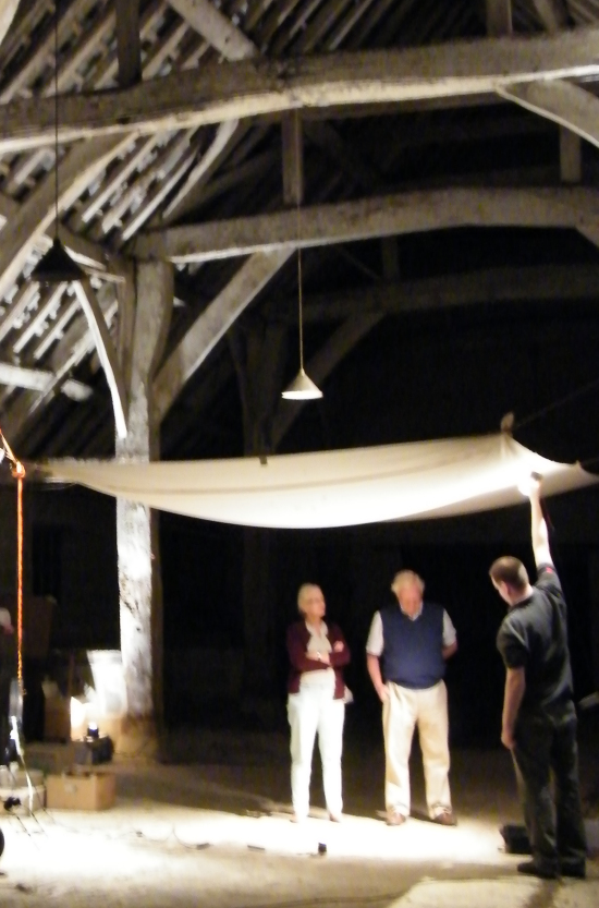 Early concept testing - lighting the dining area through a sail