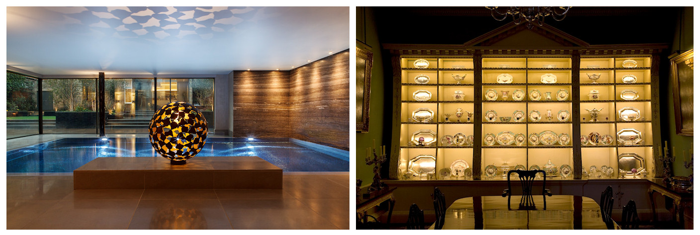 Different examples of LED lighting in modern and period settings