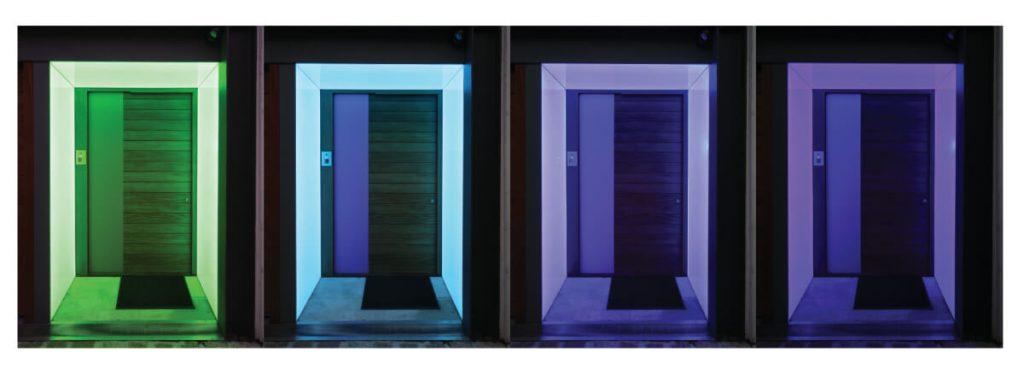 Colour changing LED LightSheet - colour change progression