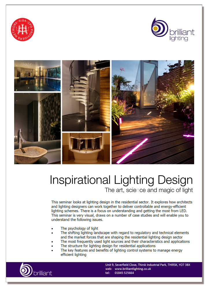 Inspirational Lighting Design - An RIBA approved CPD
