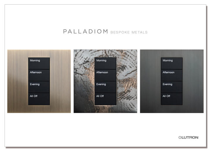 Lutron Palladiom keypads custom finishes brochure