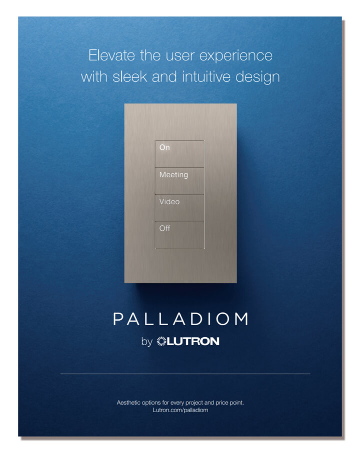 Lutron Palladiom keypads brochure