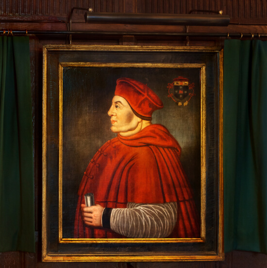 Portrait of Thomas Wolsey at Hever Castle lit with an ArtView LED Picture Light