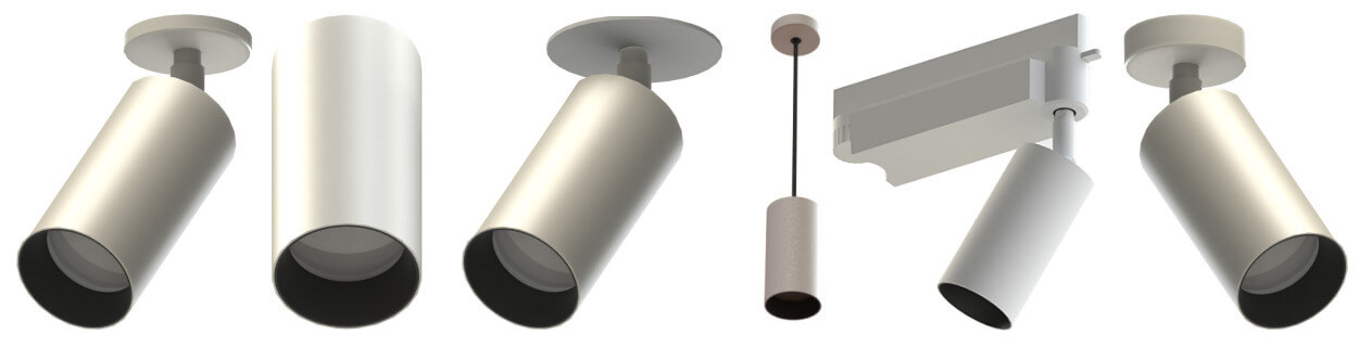 The Air range of surface mounted LED spotlights