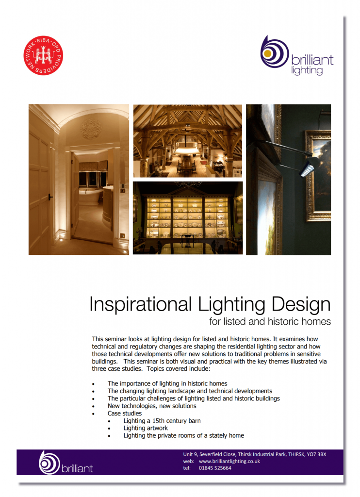 Lighting Listed Buildings - an RIBA approved CPD seminar