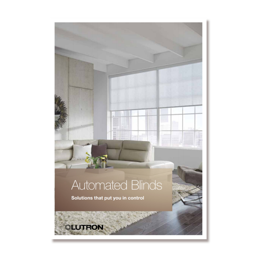 Automated Blinds - a Lutron brochure for electric blinds for the residential market