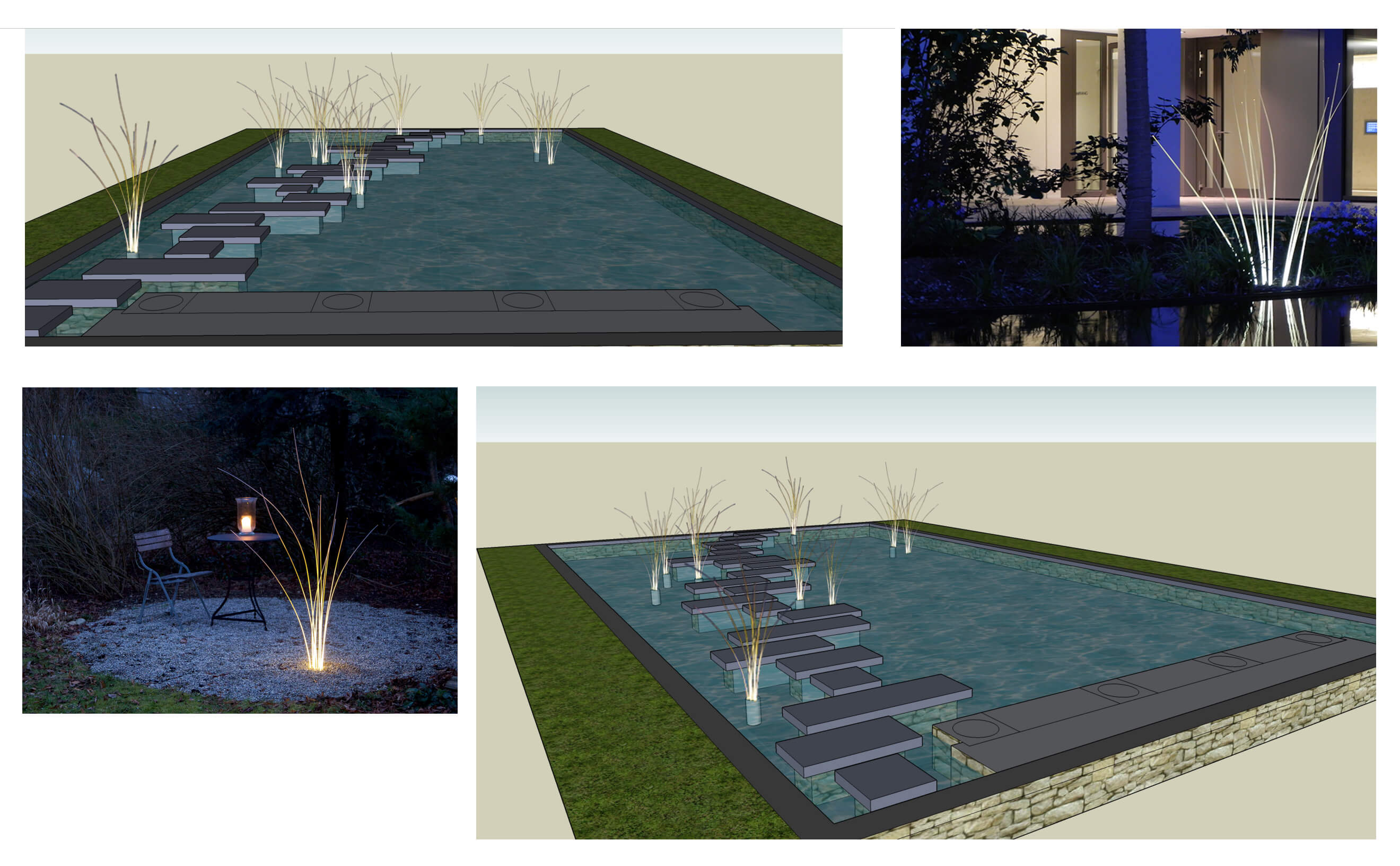 Concept board for pond lighting